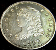 1829 1/2 10c Capped Bust Half Dime First Year