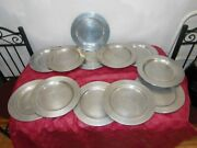 Wilton Rwp Pewter Dinner Plates Columbia Pa 10 3/8 Inches/ 12