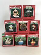 Huge Lot Of 8 Vintage 1980and039s Hallmark Light And Motion Ornaments