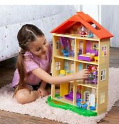 Peppa Pig's Family Home Dollhouse Playset 22 Tall 11 Pieces New