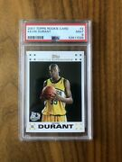 2007-08 Topps 2 Kevin Durant Seattle Supersonics Rc Rookie Psa 9
