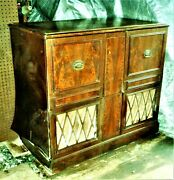 Admiral Tv Stereo-record Player-console-1940s Antique-parts Only