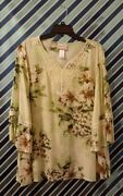Alfred Dunner Plus Women's Blouse With Lace Top Santa Fe Multi Size2xl18w