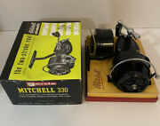 Vintage Garcia Mitchell 330 New In Box Spinning Fishing Reel With Manual