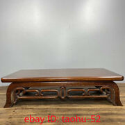 14.9andldquocollecting Chinese Antiques Pure Handmade Flowerpear Wood Tea Table