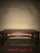 16.9andrdquocollecting Chinese Antiques Pure Handmade Flowerpear Wood Tea Table