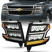 111478 Anzo Headlight Lamp Driver And Passenger Side New For Chevy Lh Rh Tahoe