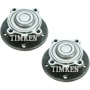 Set-tmha590162 Timken Wheel Hubs Set Of 2 Front Driver And Passenger Side New Pair