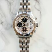 Tudor Date 79280p Silver Panda Dial Automatic Chronograph Watch By Rolex