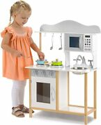 Playhouse Ty6133 Kids Wooden Playset Pretend Kitchen Role Play