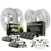 K15042dk-26 Powerstop Brake Disc And Drum Kits 4-wheel Set Front And Rear New