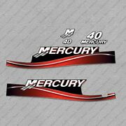 Mercury 40 Hp 2 Stroke 2 Cylinders Electric 2005-2006 Oil-window Outboard Decals