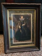 Antique Print Portrait Of Marchesa Balbifrom Van Dyck Framed Painting