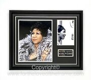 Aretha Franklin Hand Signed Music Photo Luxury Hand Made Display And Coa