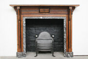 Victorian Oak Fire Surround In An Arts And Crafts Aesthetic Manner