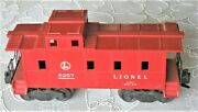 Rare Mid-1950's Lionel 6257 Circle L Caboose W/ 2 Coupler 6257-x Or 6457 Chassis