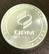Opm 1oz Silver Round .999 Pure Silver Bullion - One Troy Ounce