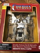 Replicas Parris Toy Cowboy Gun Holster Set Of 2 Belt And Metal Pistol New In Box