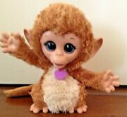 2013 Furreal Friends Baby Cuddles Monkey Wiggles And Giggles 6 Inch Interactive