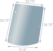 New Right Side Rear Tinted Glass 3806590m2 Fits Massey Ferguson 4225 4235 4240