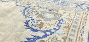 Rare Antique Cr1930-1949and039s Distressed Wool Pile Overdyed Oushak Area Rug 7x10ft