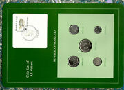 Coin Sets Of All Nations Venezuela All 1989 Unc Tortuga Tortoise Stamp