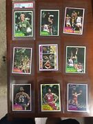 1981 Topps Basketball Complete Set From Vending Case With Larry Bird Psa 8