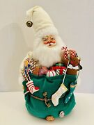 Vintage Santa Claus With Bag Of Toys Annalee Style 14andrdquo Plush Christmas Decor