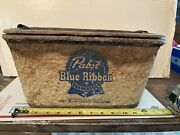 Old Vintage Pabst Blue Ribbon Beer Brewery Ice Chest Cooler Thermos Advertising