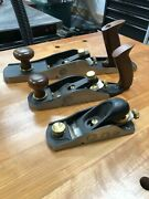 Veritas Hand Plane Set - Bevel Up Smoother Low-angle Jack And Low-angle Block