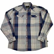 Howler Bros Shirt Western Pearl Snap Vented Long Sleeve Men's Size Xl