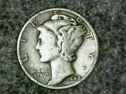 Andnbsp1942 D Mercury Dime 10c - Nice Old Coin - 90 Silver Us Dimeandnbspfree Shipping