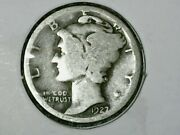 Andnbsp1927 P Mercury Dime 10c - Nice Old Coin - 90 Silver Us Dimeandnbspfree Shipping