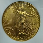 1925 20 Saint Gaudens Gold Double Eagle Ms-62 Ngc Old Holder