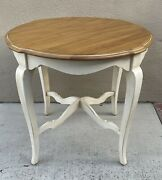 Ethan Allen Country French Round End Table Legacy Maison 26 8204 646 Brittany