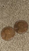 1980 Penny No Mint Mark, Large Print. Have D Aswell As Unmarked Selling Together