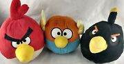 Angry Birds Space Lightning, Terence Red And Bomb Black 9 Plush Lot No Sound D5