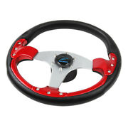 Aluminum 13.8 Inch Boat 3 Spoke Steering Wheel With Soft Pu Foam Cover And 3/4