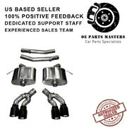 Corsa 14358blk 304 Ss Axle-back Exhaust System Quad Rear For Cadillac Cts 16-19