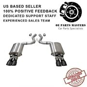 Corsa 21002blk 304ss Valved Axle-back Exhaust System Quad Rear For Mustang 18-19