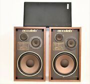 Vintage Acculab Model 320 Home Stereo Speakers 22.5 Tall X13x11