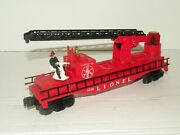 Lionel Pw 3512 Operating Fireman And Ladder Car