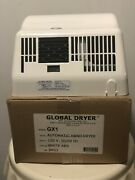 Global Gx1 Automatic Hand Dryer White Abs 120v Electrical Restroom Heat