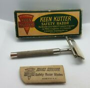 Vintage Keen Kutter Safety Razor With Blade Sleeve In Original Box