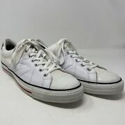 Converse Cons One Star Leather Shoes Size 12 Skateboarding Off White 136756c
