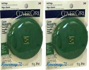 2 Pack Covergirl Clean Fragrance Free Pressed Face Powder 240 Buff Beige
