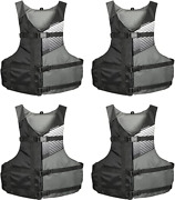 Stohlquist Fit Adult Pfd Life Vest - Black + Gray Universal Unisex Size Fitting