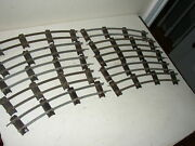 Lot Of American Flyer S Gauge 702 Curve Track 10 Pieces In Good Condition