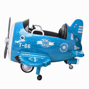 12v Kids Ride On Car Aircraft Plane Style Electric Toy Music Horn Remote Control