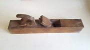 22 X 3 1/2 Vintage Mathieson Wooden Fore Plane Good Condition 41496